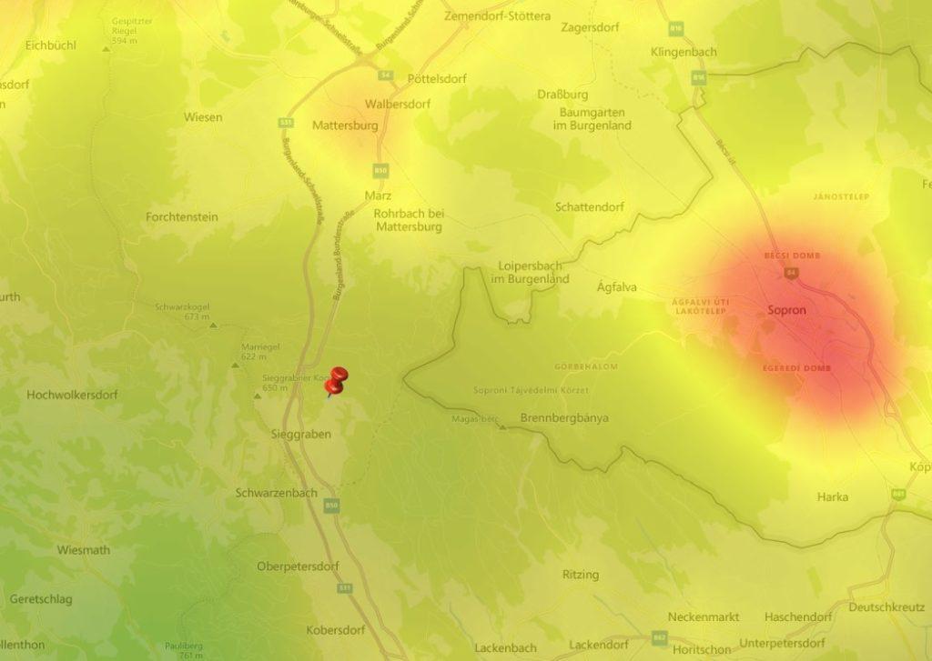Lichtverschmutzung Burgenland Astronomie Brenntenriegel